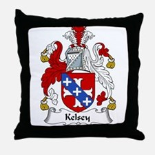 Kelsey Family Crest Throw Pillow