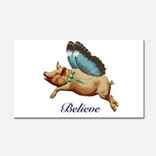 Believe Car Magnet 20 x 12