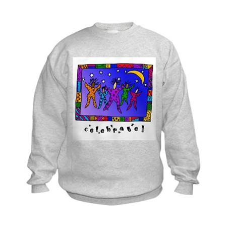 Celebrate! with Wording Kids Sweatshirt