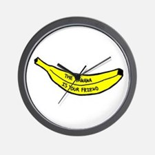 Banana Friend Wall Clock
