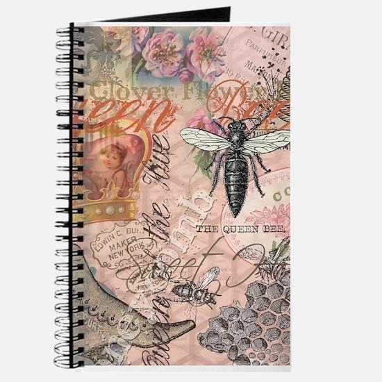 Vintage Queen Bee Collage Journal