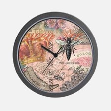 Vintage Queen Bee Collage Wall Clock
