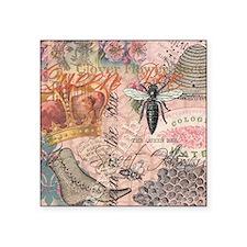 Vintage Queen Bee Collage Sticker