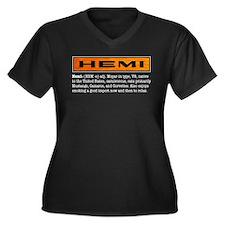 Unique Chrysler Women's Plus Size V-Neck Dark T-Shirt