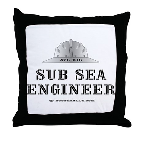 Sub Sea Engineer Throw Pillow