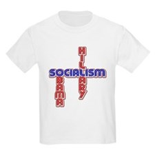 Hillary & Obama = Socialism T-Shirt