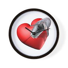 I Heart Dolphins Wall Clock