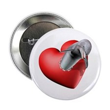 I Heart Dolphins Button