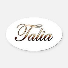 Gold Talia Oval Car Magnet