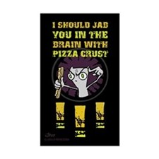Pizza Crust Rectangle Sticker