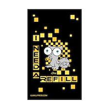 Pilz-e I need a refill Rectangle Sticker