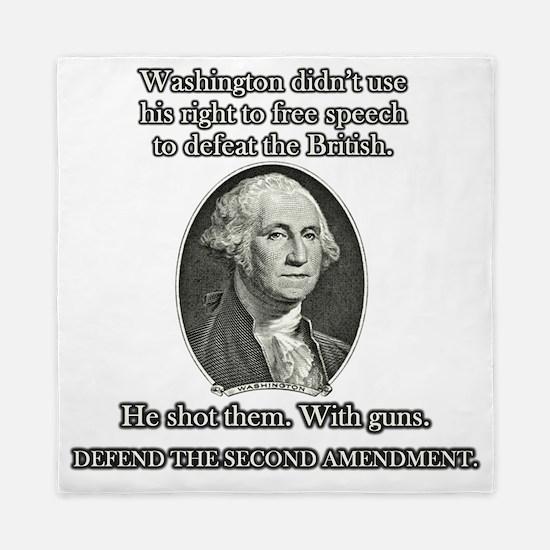 Washington Used Guns Queen Duvet