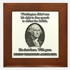 Washington Used Guns Framed Tile