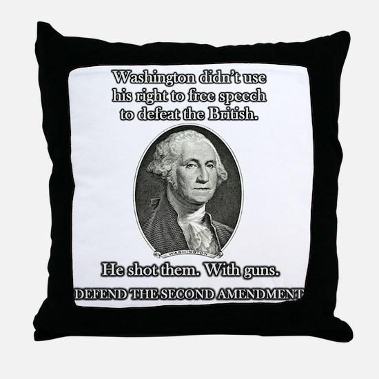 Washington Used Guns Throw Pillow