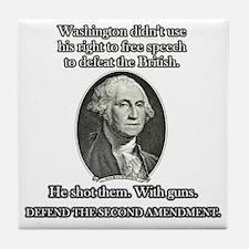 Washington Used Guns Tile Coaster