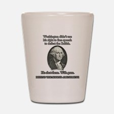 Washington Used Guns Shot Glass