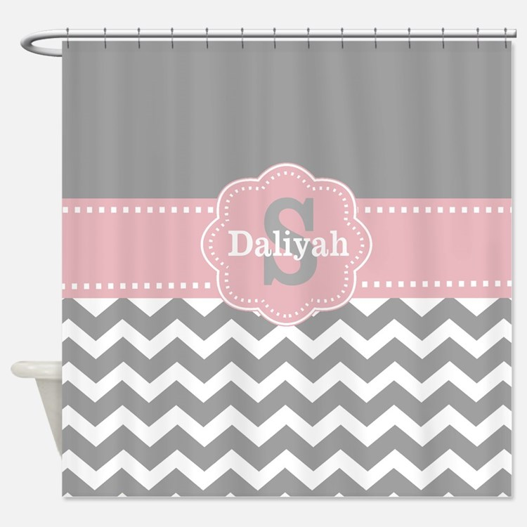 Pink And Gray Chevron Shower Curtains Pink And Gray Chevron Fabric Shower Curtain Liner