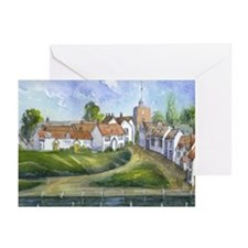 English watercolor Finchingfield Greeting Cards (P