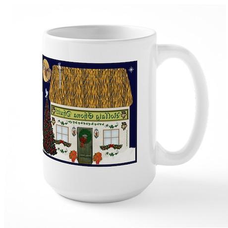 Irish Christmas Cottage (Gaelic) Large Mug