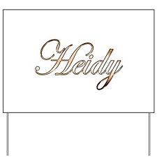 Gold Heidy Yard Sign
