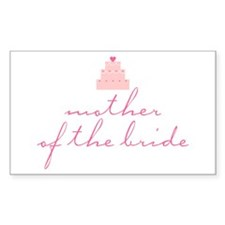 Mother of the Bride Rectangle Decal
