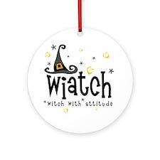 """Wiatch"" [black] Ornament (Round)"