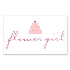 Flower Girl (Cake) Rectangle Decal