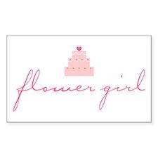 Flower Girl (Cake) Rectangle Decal