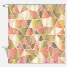 Soft Art Triangles Shower Curtain