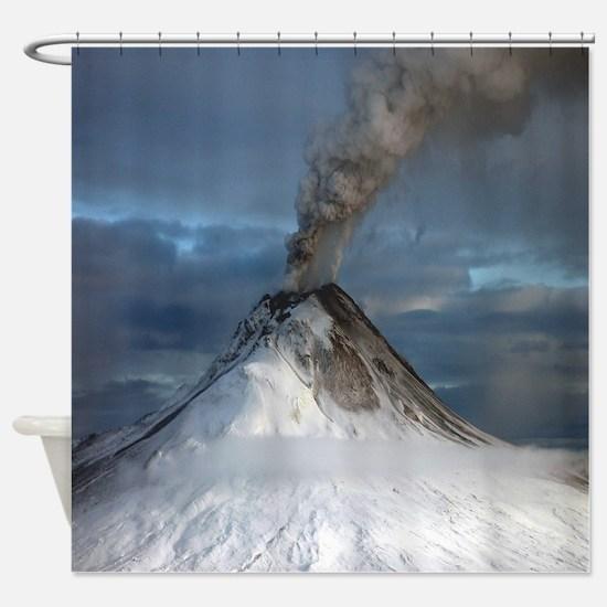 Alaska - Augustine Volcano Shower Curtain