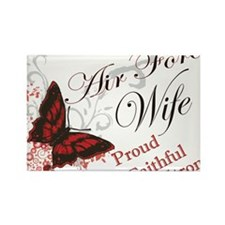 Cute Proud airforce wife Rectangle Magnet (10 pack)