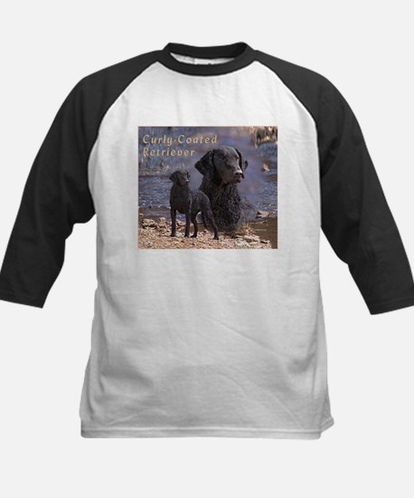 Curly Coated Retriever-2 Kids Baseball Jersey