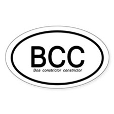Boa Constrictor Constrictor Sticker (oval)