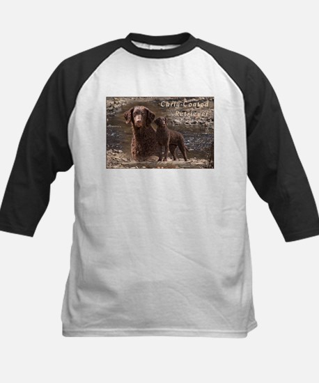 Curly Coated Retriever-3 Kids Baseball Jersey