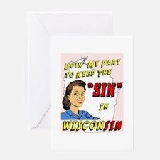 Sin in Wisconsin #2 Greeting Card