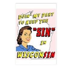 Sin in Wisconsin #2 Postcards (Package of 8)