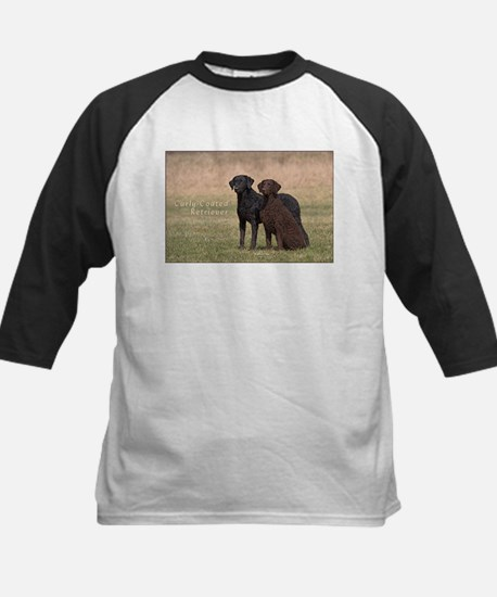 Curly Coated Retriever-5 Kids Baseball Jersey