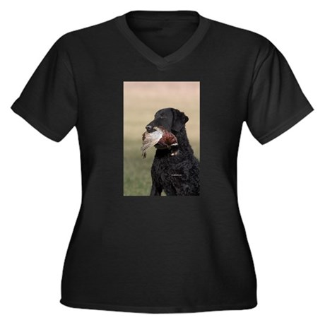 Curly Coated Retriever-6 Women's Plus Size V-Neck