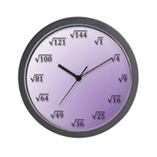 Square Root Clock Wall Clock