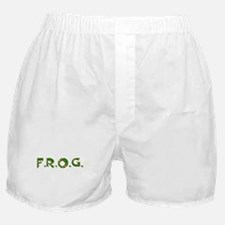 Green FROG Scales Boxer Shorts