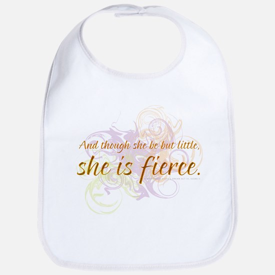 She is Fierce - Swirl Bib