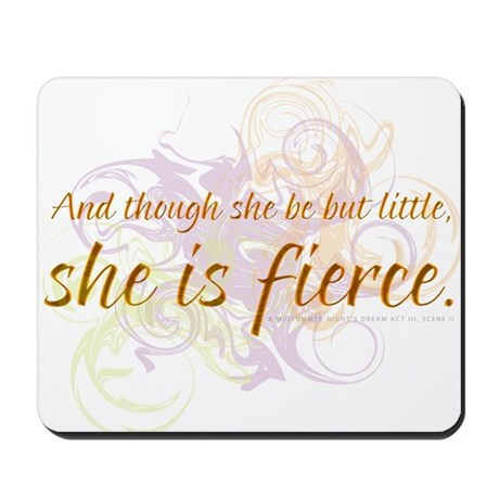 She is Fierce - Swirl Mousepad