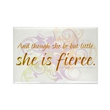 She is Fierce - Swirl Rectangle Magnet