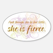 She is Fierce - Swirl Oval Decal