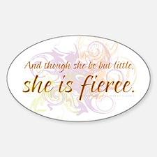 She is Fierce - Swirl Oval Decal