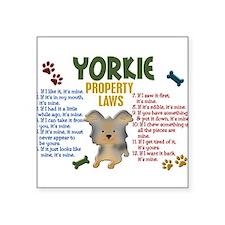 "Cute Funny yorkshire Square Sticker 3"" x 3"""
