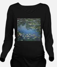 Water Lilies by Clau Long Sleeve Maternity T-Shirt