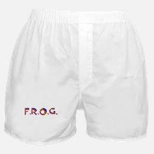 Blue Red FROG Scales Boxer Shorts