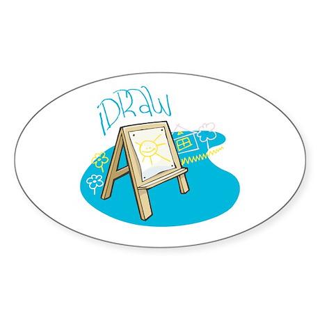 iDraw Oval Sticker