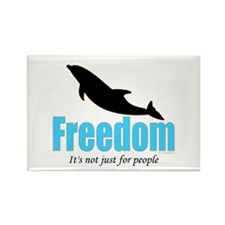 Dolphin Freedom Rectangle Magnet (100 pack)